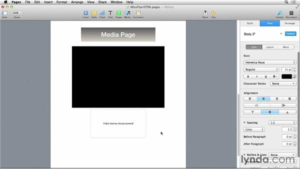 Adding audio and video: Pages 5 Essential Training