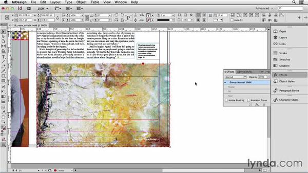 146 Make a transparency mask in InDesign: InDesign Secrets