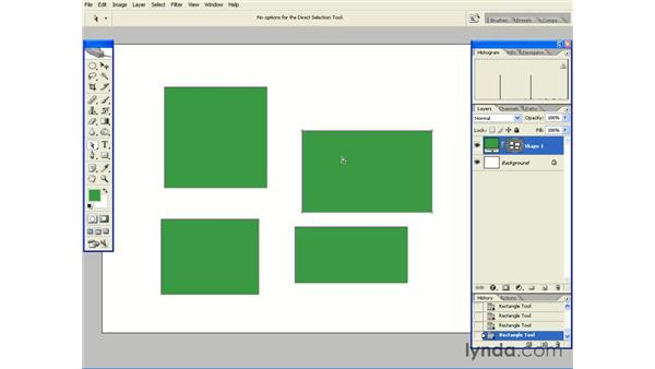Creating Multiple Shapes on a Single Shape Layer: Photoshop CS2 Essential Training