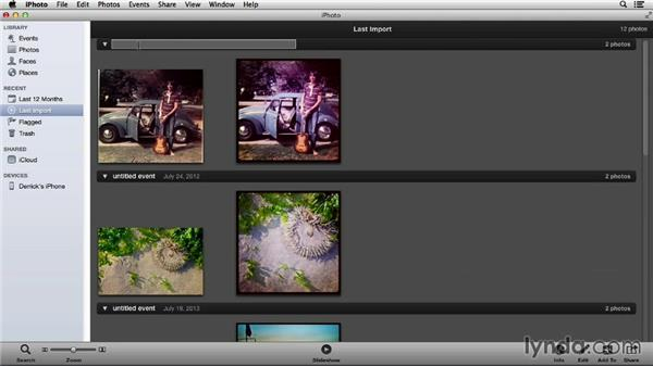 Importing pictures into iPhoto via USB: Managing Your Mobile Photos