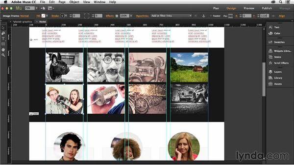Manipulating graphics in Muse: Muse Essential Training