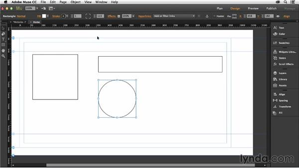 Drawing shapes with Muse: Muse Essential Training (2015)