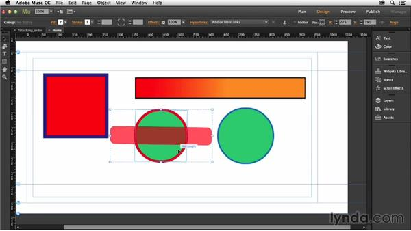 Grouping objects together: Muse Essential Training