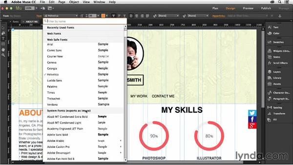 Understanding web typography: Muse Essential Training