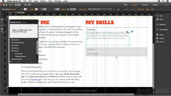 Building an accordion panel: Muse Essential Training (2015)