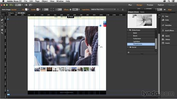 Working with slideshows: Muse Essential Training