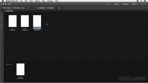Creating a mobile website in Muse: Muse Essential Training