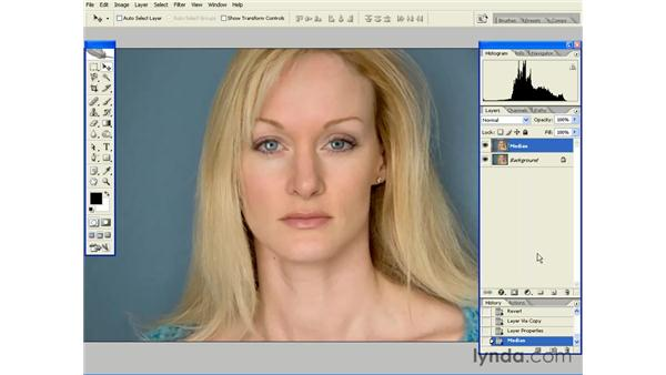 Smoothing Skin with Median: Photoshop CS2 Essential Training
