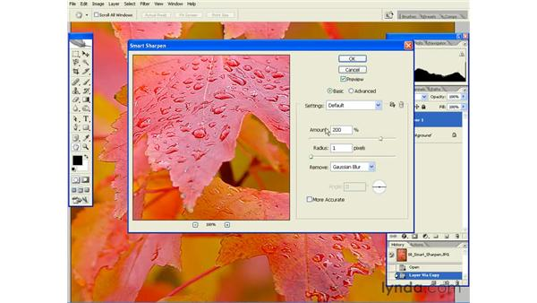 Smart Sharpening: Photoshop CS2 Essential Training