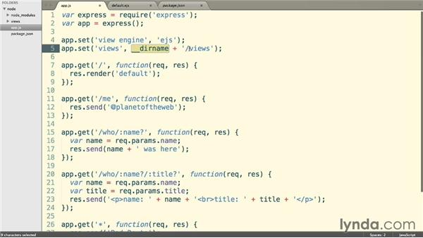 Using templates: Building a Website with Node.js and Express.js (2014)