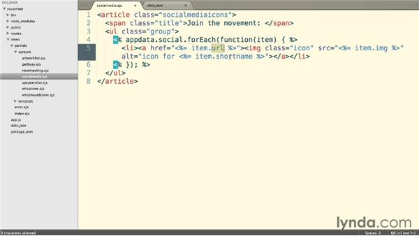 Using JavaScript loops: Building a Website with Node.js and Express.js (2014)