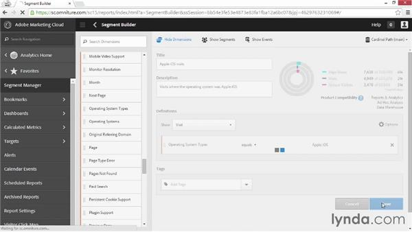 Using custom segments: Up and Running with Adobe Reports and Analytics
