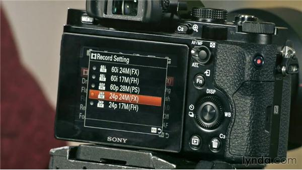 Menu options of the Sony a7: Video Gear Weekly
