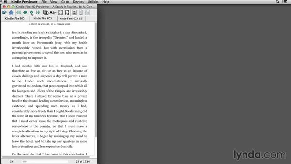 Kindle Previewer: Creating Ebooks for the Kindle