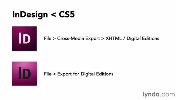 InDesign CS4 to CC: Creating Ebooks for the Kindle