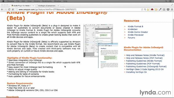 The Kindle Plugin for InDesign: Creating Ebooks for the Kindle