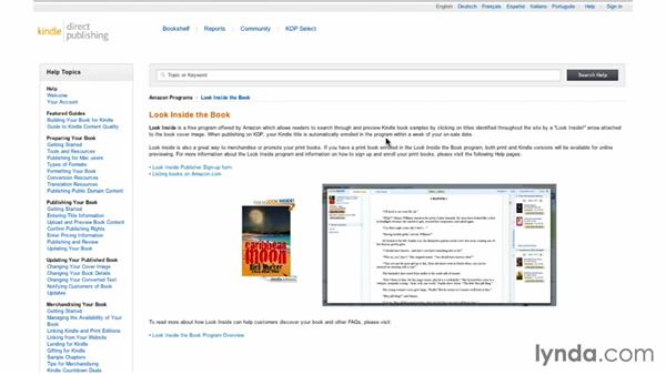 Looking inside: Creating Ebooks for the Kindle