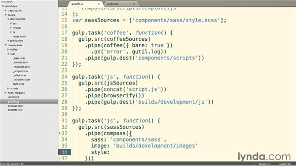 Processing Sass and Compass: Web Project Workflows with Gulp.js, Git, and Browserify