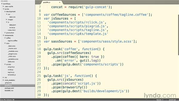 Reloading our browser automatically: Web Project Workflows with Gulp.js, Git, and Browserify