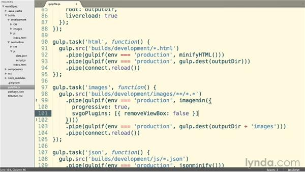 Compressing images: Web Project Workflows with Gulp.js, Git, and Browserify