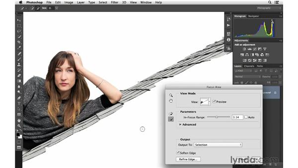 Building a selection with Focus Area (CC 2014): Photoshop CC for Photographers: Fundamentals
