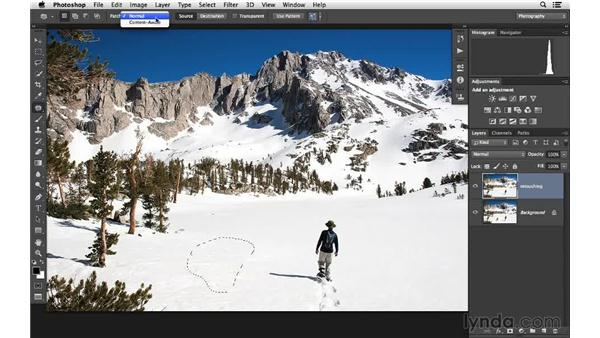 Working with the Patch tool and Content-Aware Move (CC 2014): Photoshop CC for Photographers: Fundamentals
