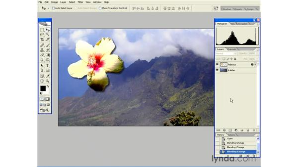 Cycling Through the Blending Modes: Photoshop CS2 Essential Training