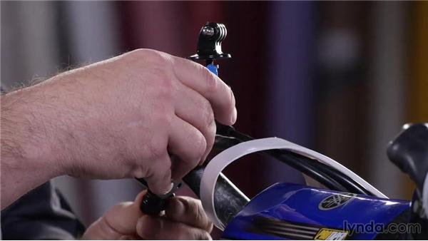 Mounting a GoPro to the handlebars: Shooting with the GoPro HERO: Car and Motorcycle Mounts