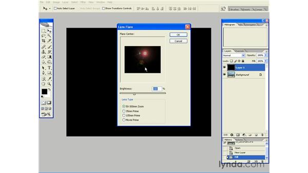 Adding a Lens Flare Effect with Screen: Photoshop CS2 Essential Training