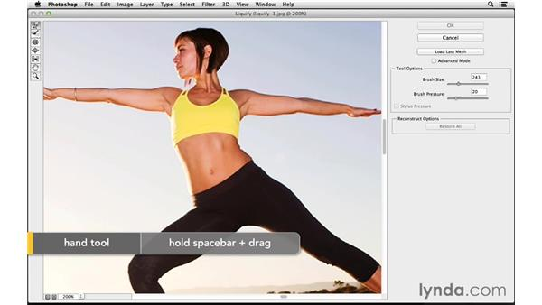 Changing shape with Liquify (CC 2014): Photoshop CC for Photographers: Fundamentals