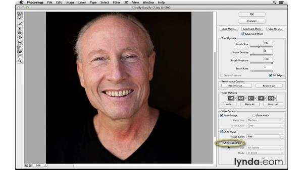 Adjusting facial features with Liquify (CC 2014): Photoshop CC for Photographers: Fundamentals