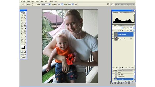 Dodge and Burn with Overlay: Photoshop CS2 Essential Training