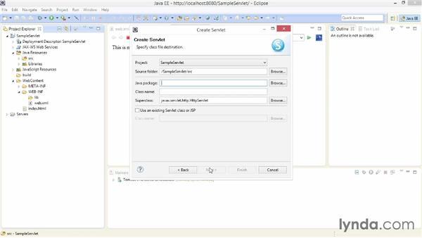 Creating a simple servlet: Java EE Essentials: Servlets and JavaServer Faces