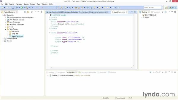 Solution: Build a simple servlet: Java EE Essentials: Servlets and JavaServer Faces