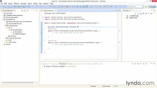 Handling servlet life-cycle events: Java EE Essentials: Servlets and JavaServer Faces