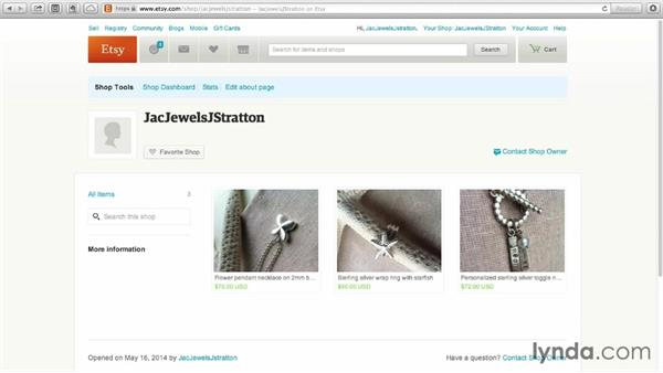 Accessing your shop from a browser: Selling on Etsy
