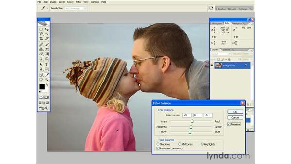 Adjusting Color Balance: Photoshop CS2 Essential Training