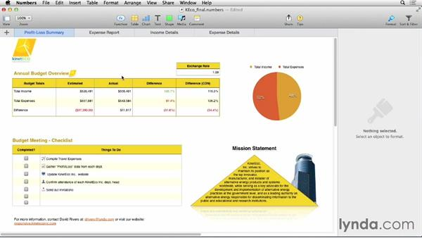 Exporting to other document formats: Numbers 3 Essential Training