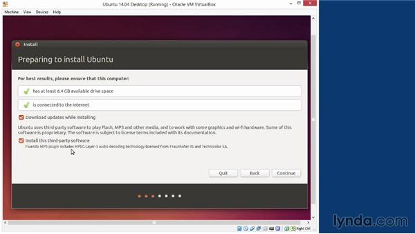 Installing Ubuntu in a virtual machine: Up and Running with Ubuntu Desktop Linux