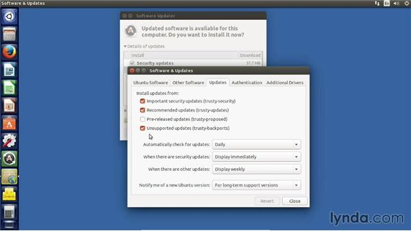 Updating the installed software: Up and Running with Ubuntu Desktop Linux
