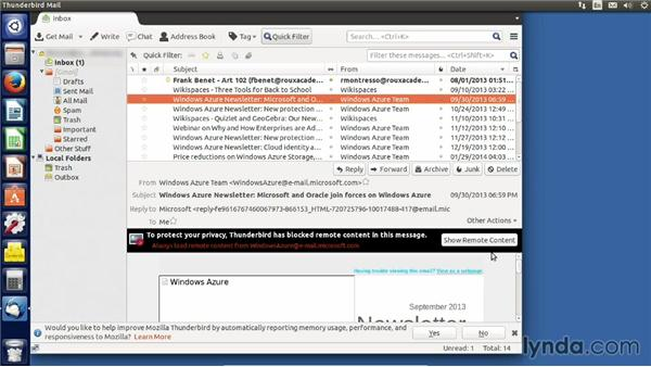 Using the Thunderbird email client: Up and Running with Ubuntu Desktop Linux