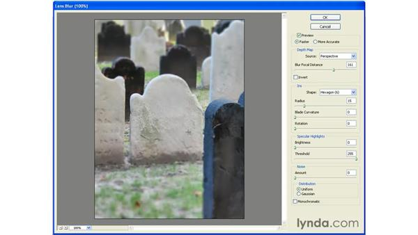 Lens Blur Pt. 2: Photoshop CS2 Essential Training