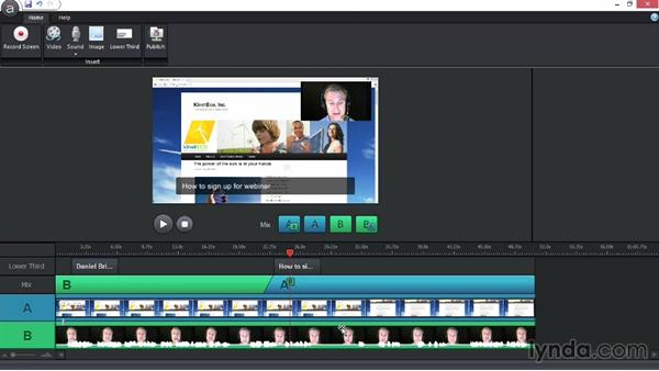 Editing a screencast: Up and Running with Articulate Studio '13