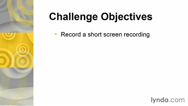Challenge: Record a short screen recording: Up and Running with Articulate Studio '13