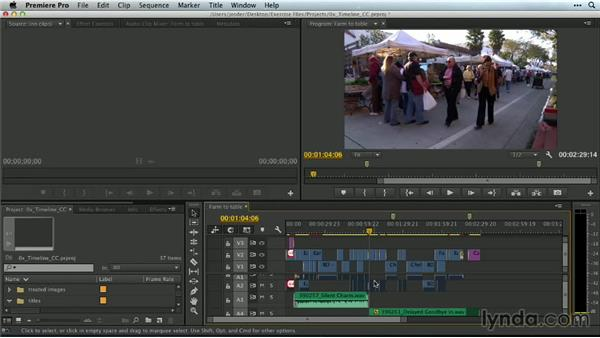 Deleting with in and out points on the Timeline: Premiere Pro Guru: Mastering the Timeline