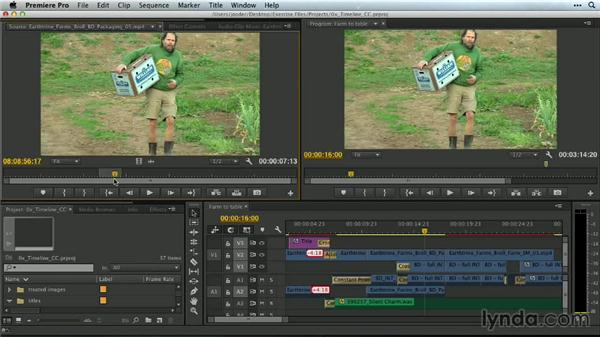 Call up source footage with Match Frame: Premiere Pro Guru: Mastering the Timeline
