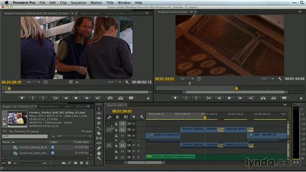 Achieve precision with a traditional three-point edit: Premiere Pro Guru: Mastering the Timeline
