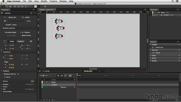 Working with symbols: Migrating from Flash to Edge Animate