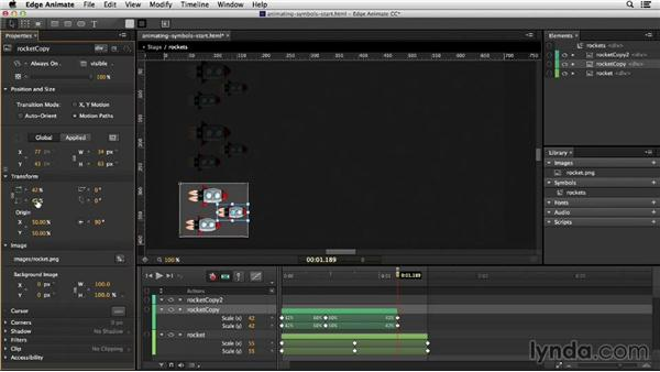 Animating symbols and previewing the animation: Migrating from Flash to Edge Animate