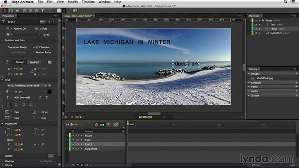 Working with text in Edge Animate: Migrating from Flash to Edge Animate